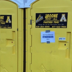 Rental store for PORTABLE RESTROOM SPECIAL EVENT ASU in Banner Elk NC